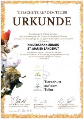 Tierschutzkochmütze für das Kinderkrankenhaus St. Marien Landshut