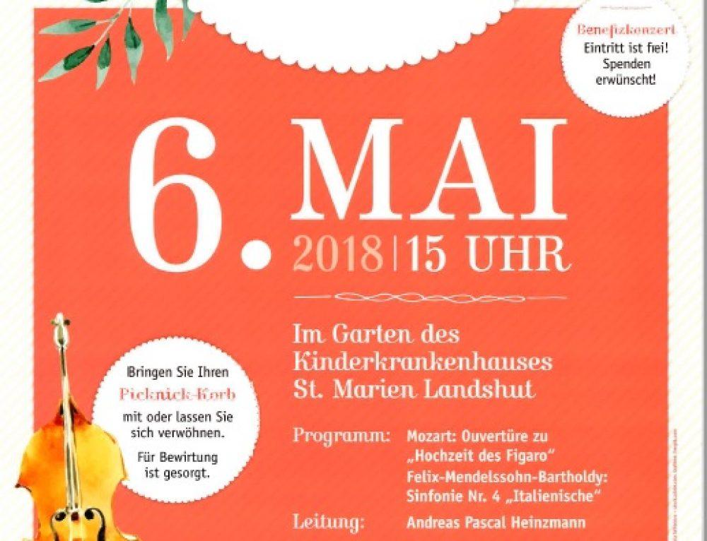 Einladung zum Picknick Konzert am Sonntag, den 6. Mai um 15 Uhr