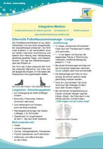 Fußreflexzonenmassage - Lunge