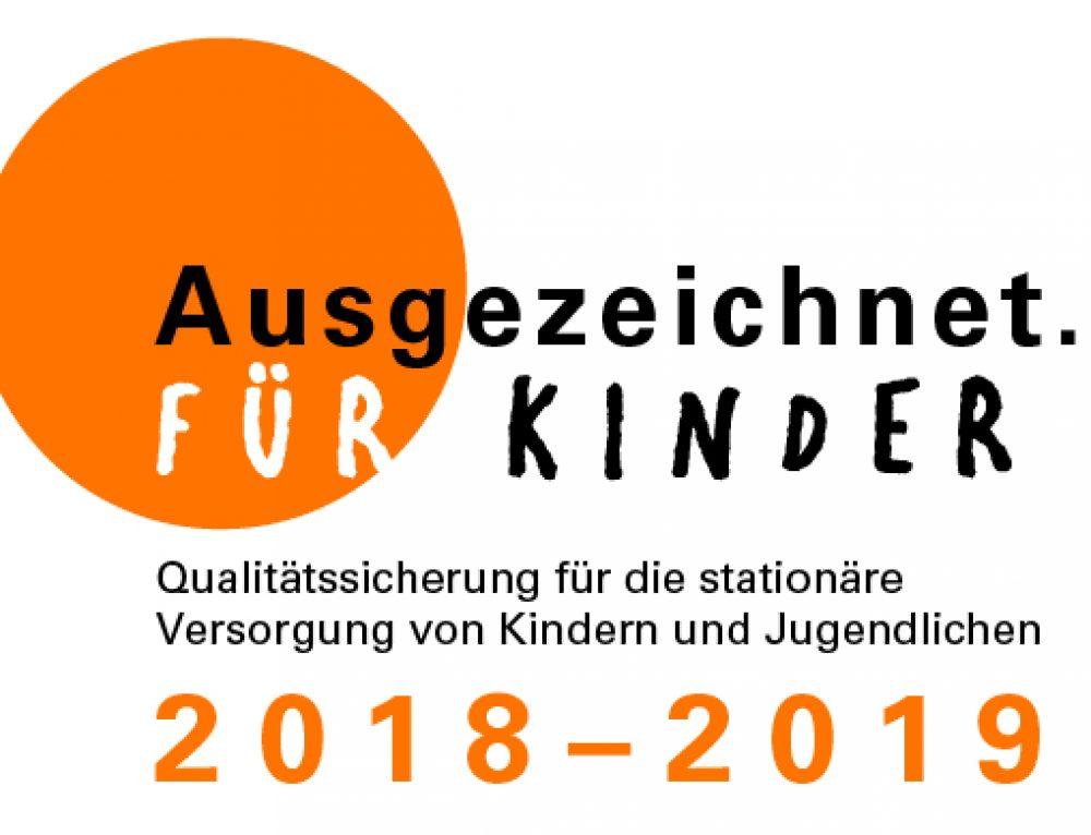 """Zertifikat """"Ausgezeichnet. Für Kinder 2018 – 2019"""""""